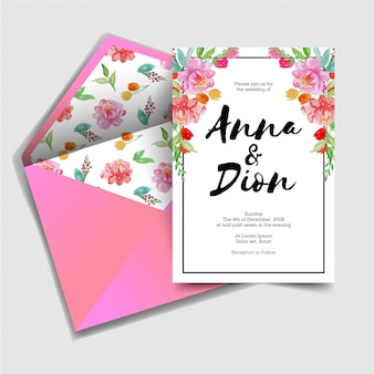 Modern sweet wedding invitation