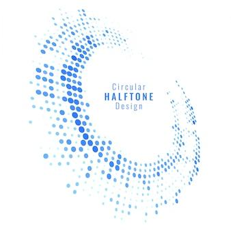 Modern swirl halftone design background