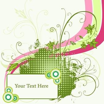 Modern swirl invitation vector template