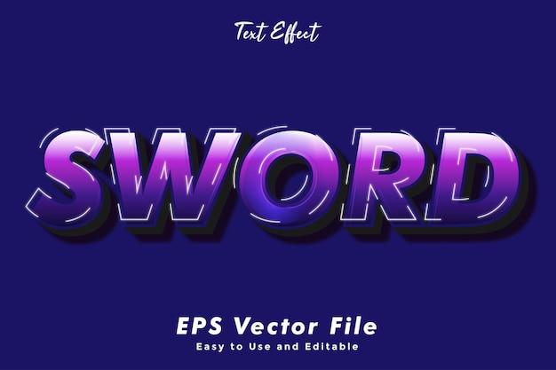 Modern sword text effect.