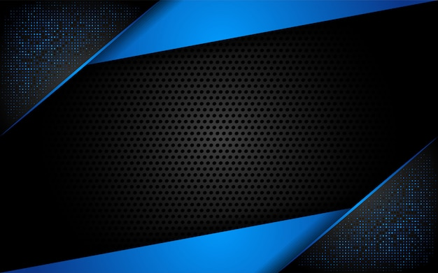 Modern tech blue background with abstract style