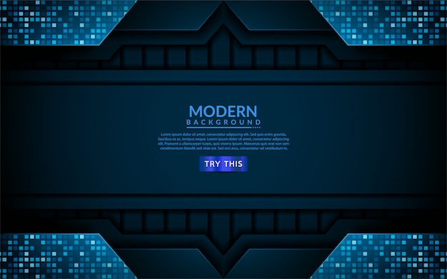 Modern tech blue background