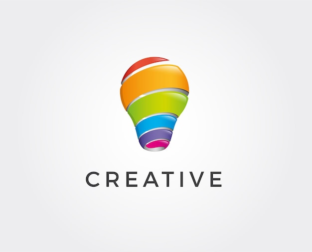 Логотип modern tech bulb