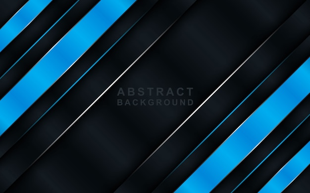 Modern tech dark background with blue overlap layers.