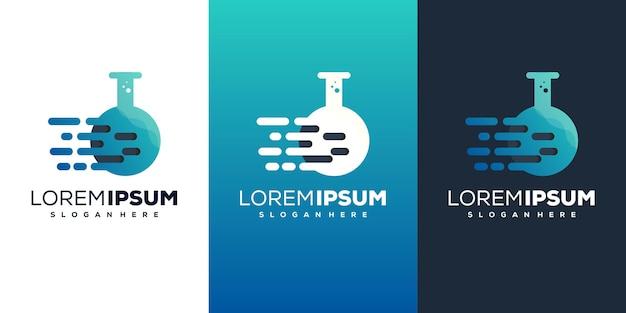 Modern tech lab logo design