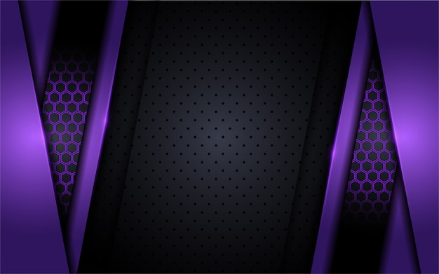 Modern tech purple background with abstract style
