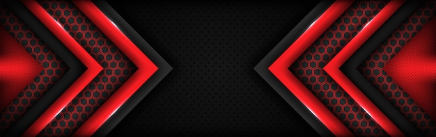 Modern tech red and dark gray background with abstract style