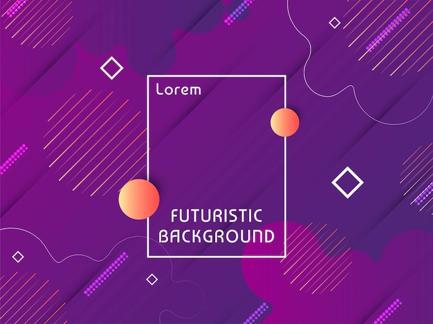 Modern techno futuristic background vector