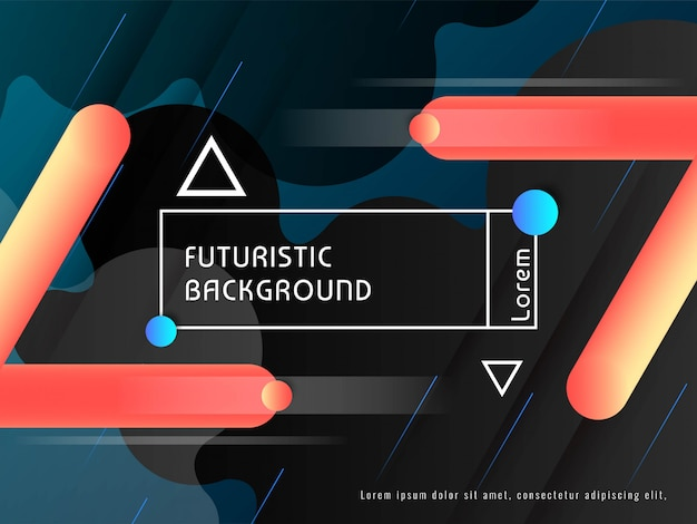 Modern techno futuristic decorative background vector
