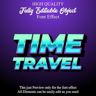 Modern technology 3d text style editable font effect