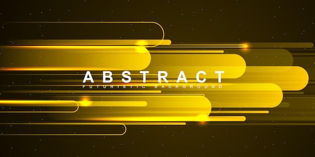 Современная технология фон в высокой скорости желтый свет