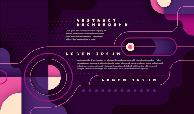 Modern technology banner in abstract geometric style.