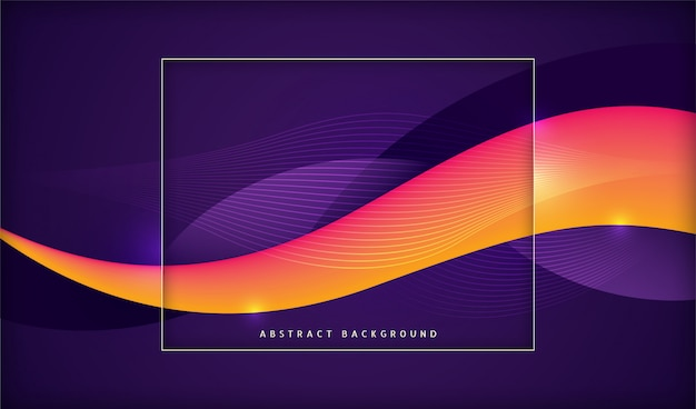 Modern technology banner with abstract wavy shapes.
