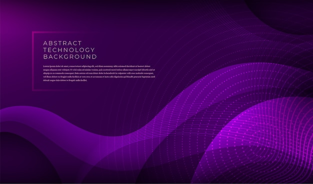 Modern technology banner with various abstract wavy shapes.