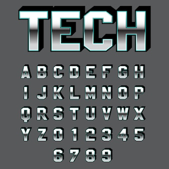 Modern technology and bold font effect