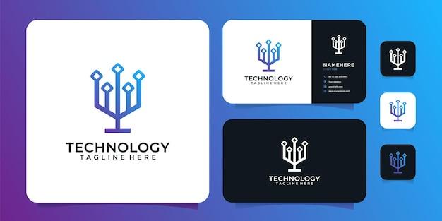 Modern technology connection network logo inspiration