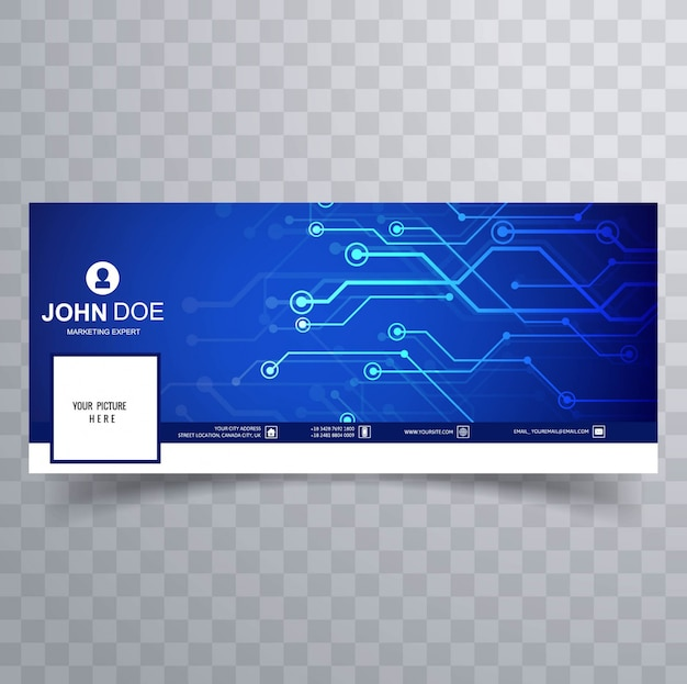 Modern technology facebook cover