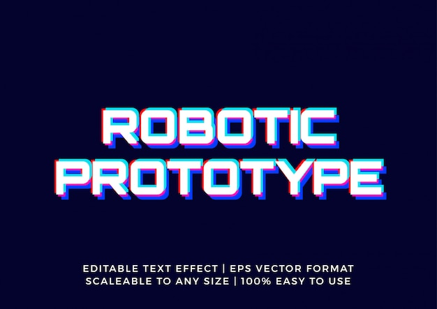 Modern technology glitch editable text effect