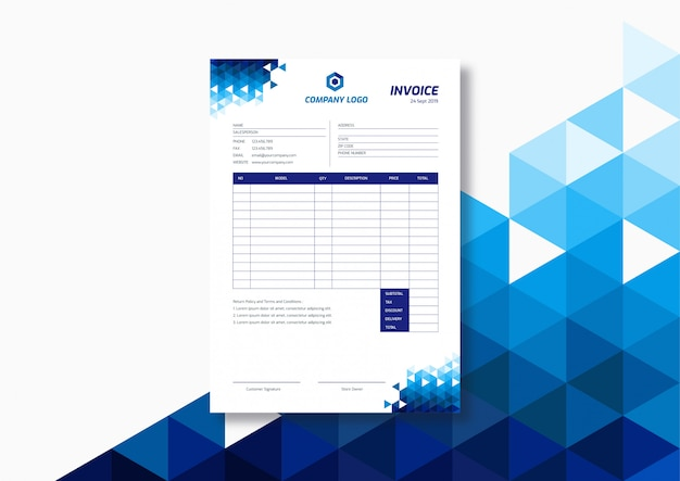 Modern technology invoice template