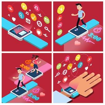 Современные технологии. современный образ жизни. человек работает