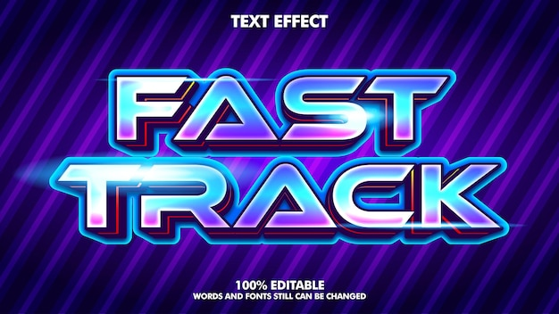 Modern technology text effects editable text effect for modern game design concept
