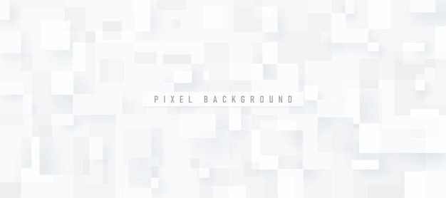 Современные технологии белый и серый квадратный фон pixel
