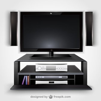 Modern television vector