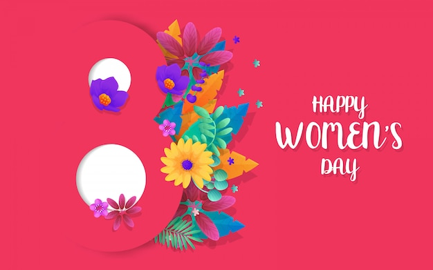 Modern template banner for womens day
