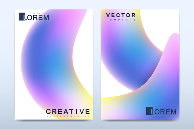 Modern template for brochure leaflet flyer cover catalog magazine or annual report in a4 size