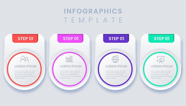Modern template business infographic illustration