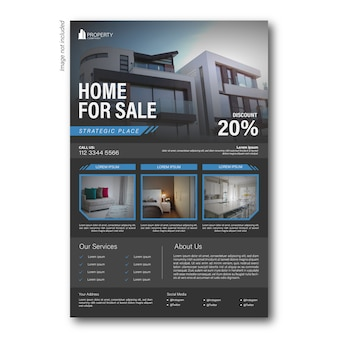 Modern template flyer or brochure property business