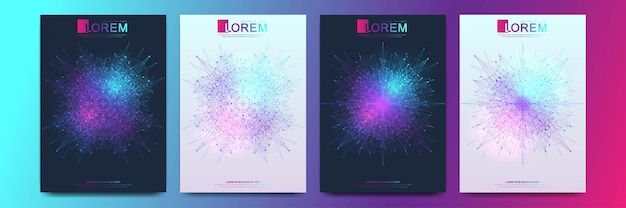 Modern   template  flyer, cover, catalog, magazine or annual report in a4 size