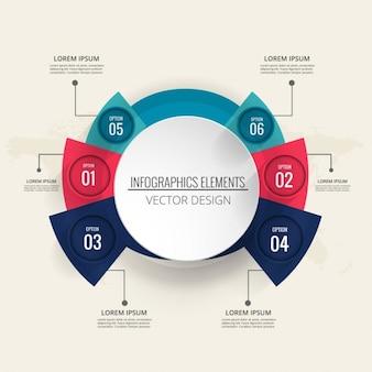 Modern template infographics