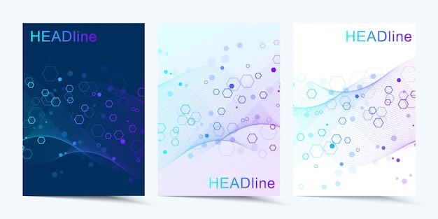 Modern  templates for brochure, cover digital technology, science or medical concept