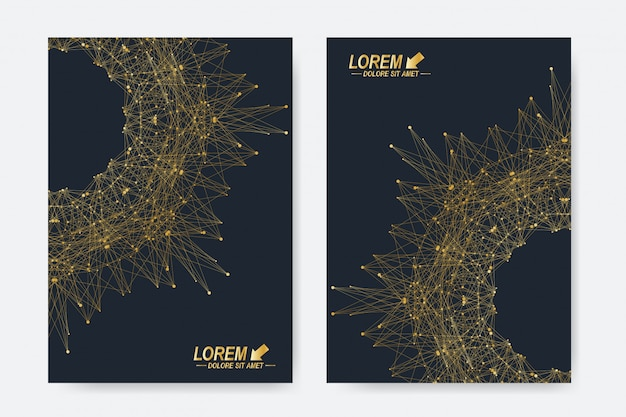Modern templates for brochure, leaflet, flyer, cover, magazine or annual report in a4 size. business, science, medicine and technology design book layout. abstract presentation with round form