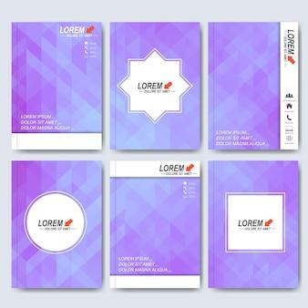 A4サイズのパンフレット、チラシ、表紙の雑誌またはレポート用の最新のテンプレート