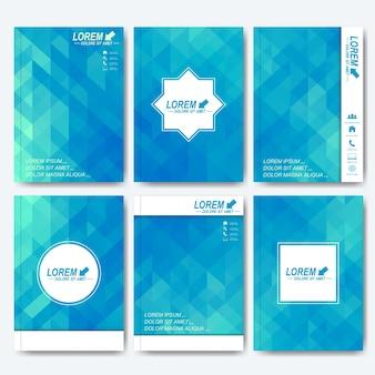 パンフレット、チラシ、表紙の雑誌やレポートの最新のテンプレート