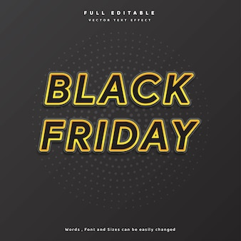 Modern text black friday gold with circle background for banner flyer poster and etc  vector