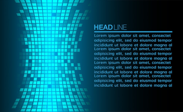 Modern text box template on background