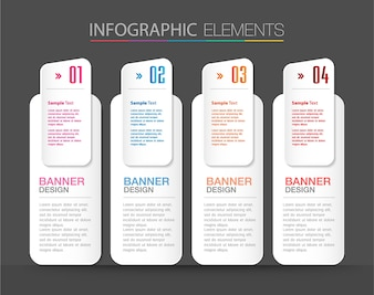 Modern text box template, banner Infographic