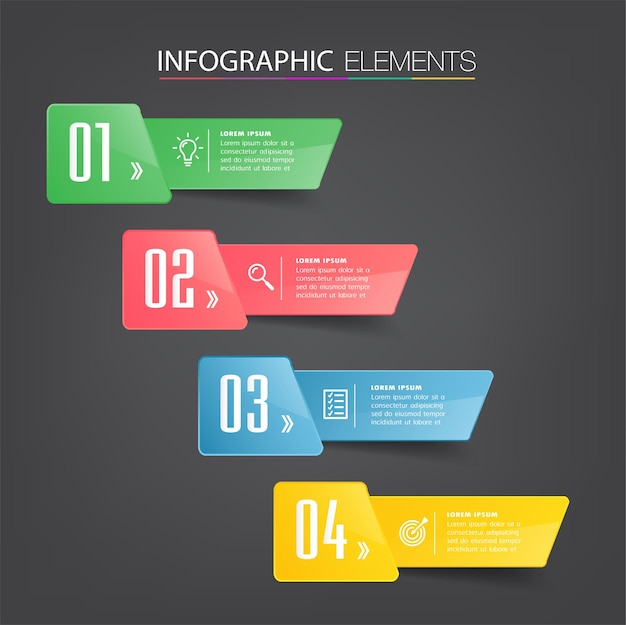 Modern text box template, banner infographics Premium Vector