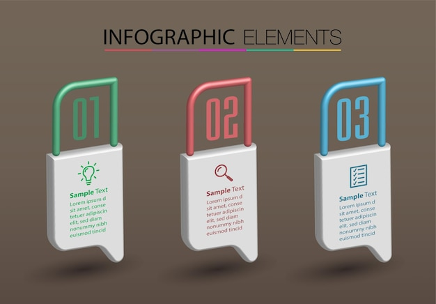 Modern text box template banner infographics