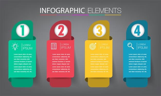 Modern text box template banner infographics Premium Vector