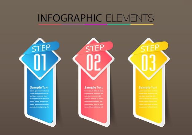 Modern text box template banner infographics