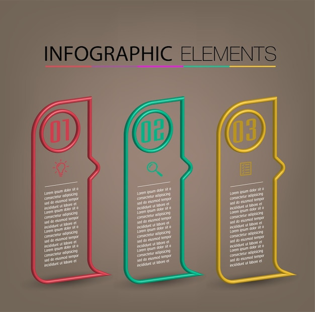 Modern text box template infographics banner infographics timeline