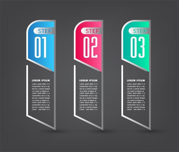 Modern text box template infographics banner