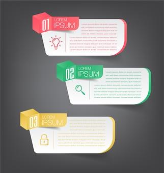 Modern text box template, infographics banner