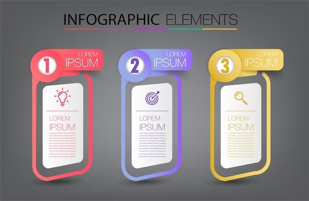 Modern text box template infographics banner Premium Vector
