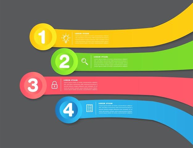 현대 텍스트 상자 템플릿 인포 그래픽 배너