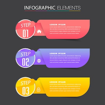 Modern text box template, infographics